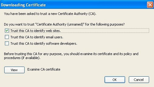 downloading certificate control panel