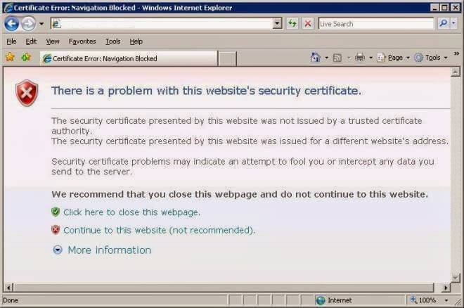 SSL Certificate Errors in Internet Explorer & Troubleshoot Guide