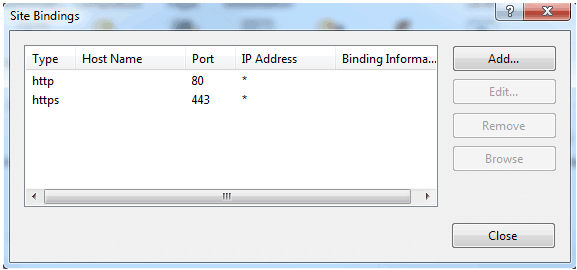 https site binding