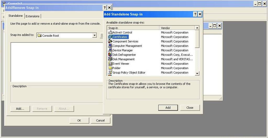 install-intermediate-certificate-in-mmc