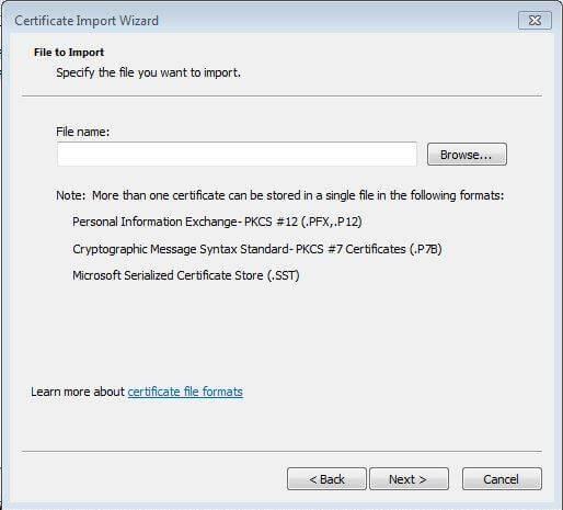Certificate-Import-Wizard