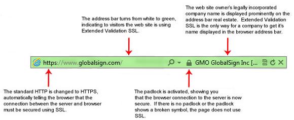 Extended Validation (EV) SSL Certificate Displays