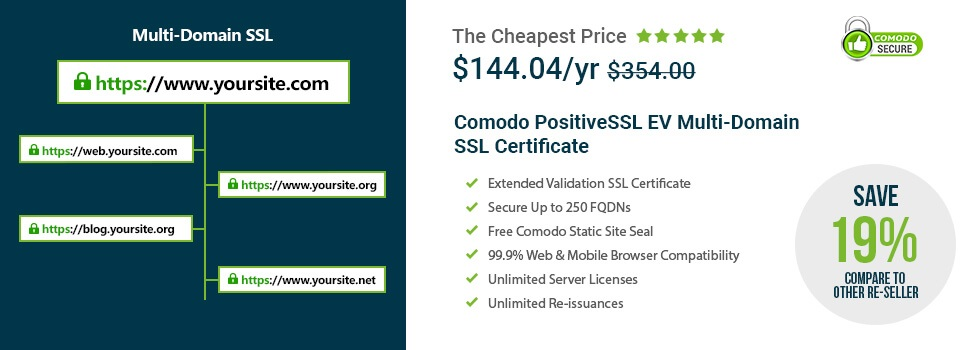 Comodo Positivessl Ev Multi Domain Certificate Review