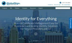 globalsign ssl certificate screenshot