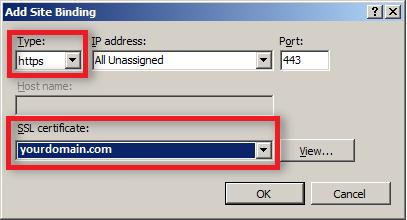 change site binding settings