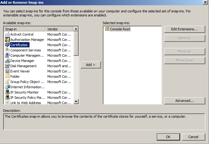 certificates-add-option-screen