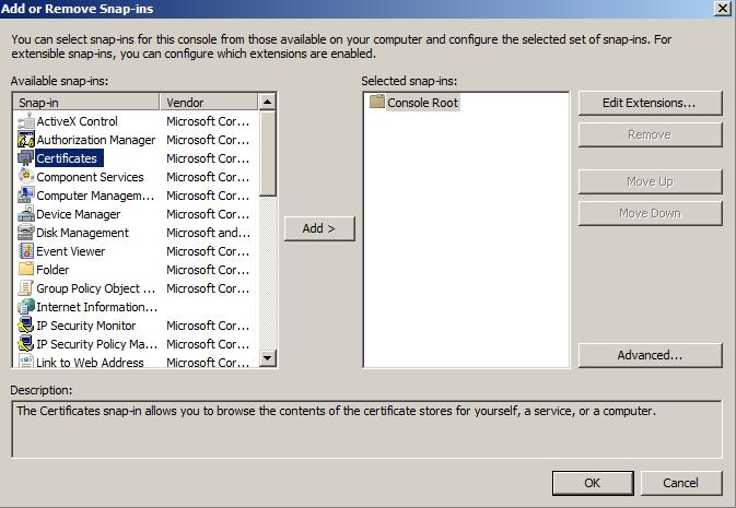 certificates-add-option-screen