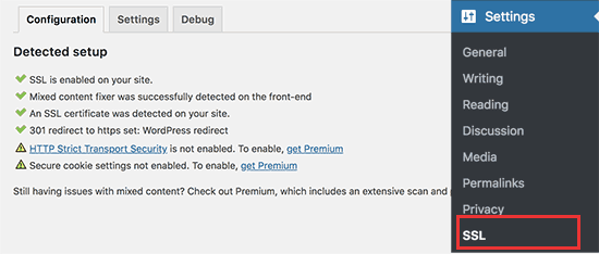 enable ssl wordpress with plugin