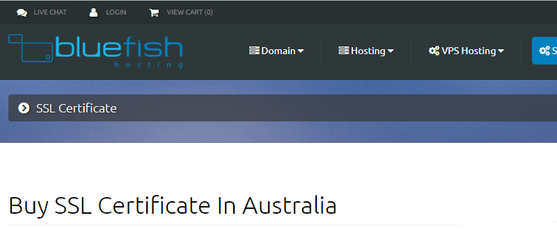 bluefishhosting-ssl-provider-australia