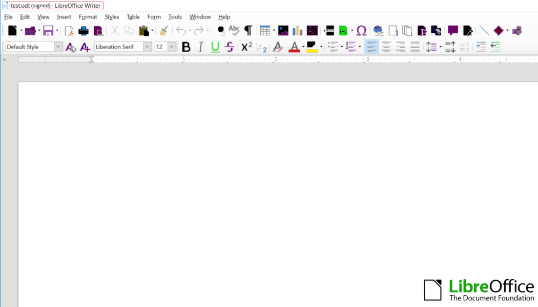 libreoffice-document -signed