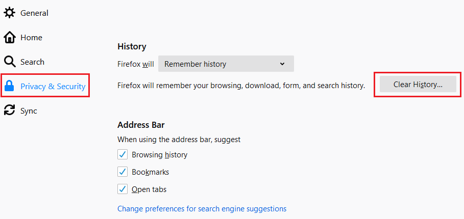 firefox-privacy-and-security-clear-historty