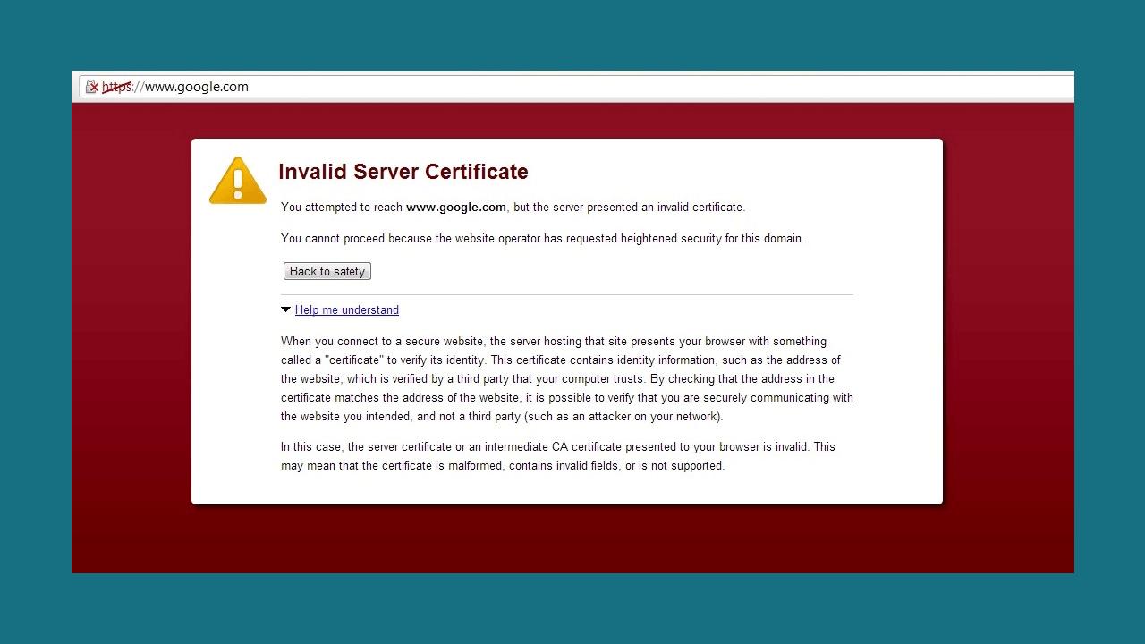 invalid-server-certificate-error
