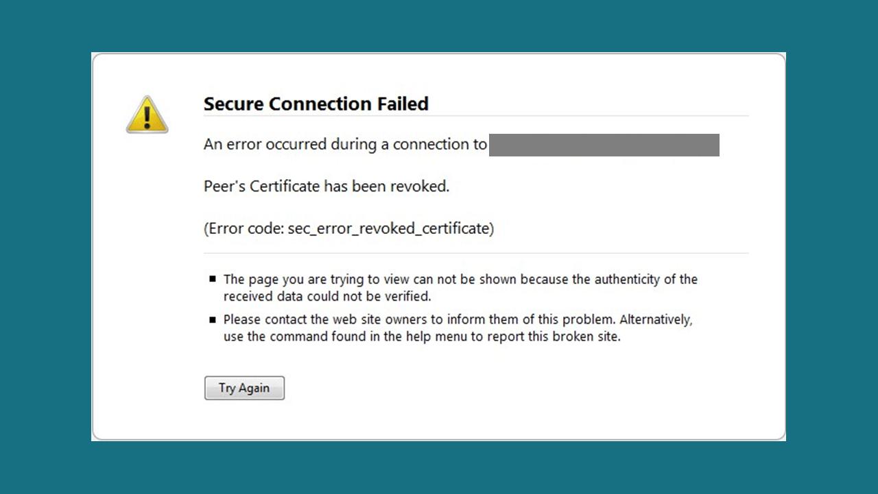 sec error revoked certificate
