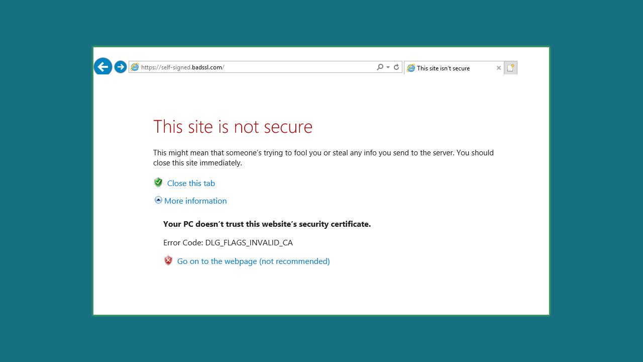self-signed-ssl-certificate-error