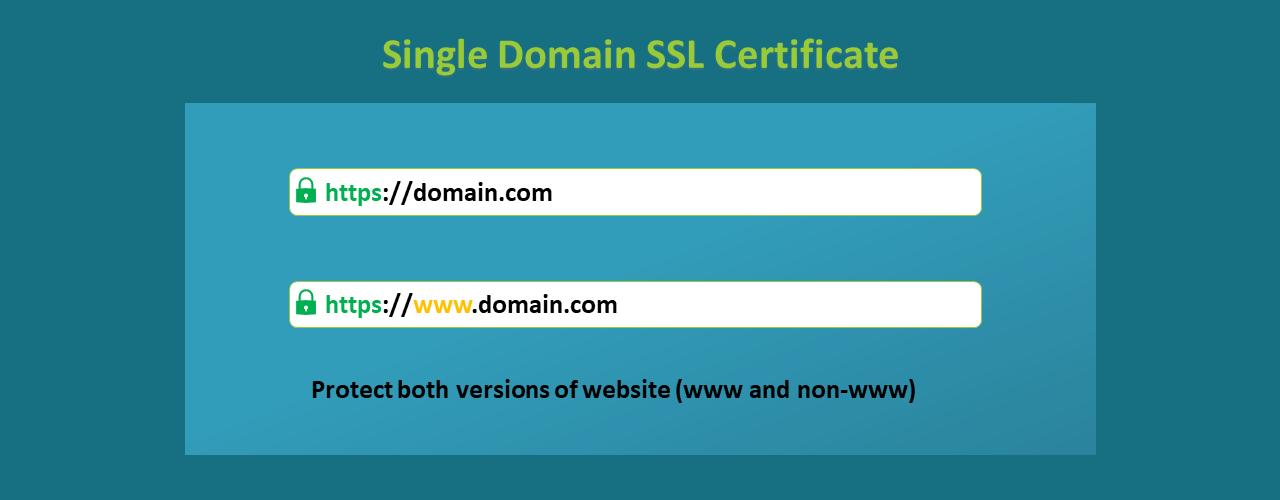 single-domain-ssl-certificate
