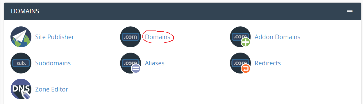 go to domains